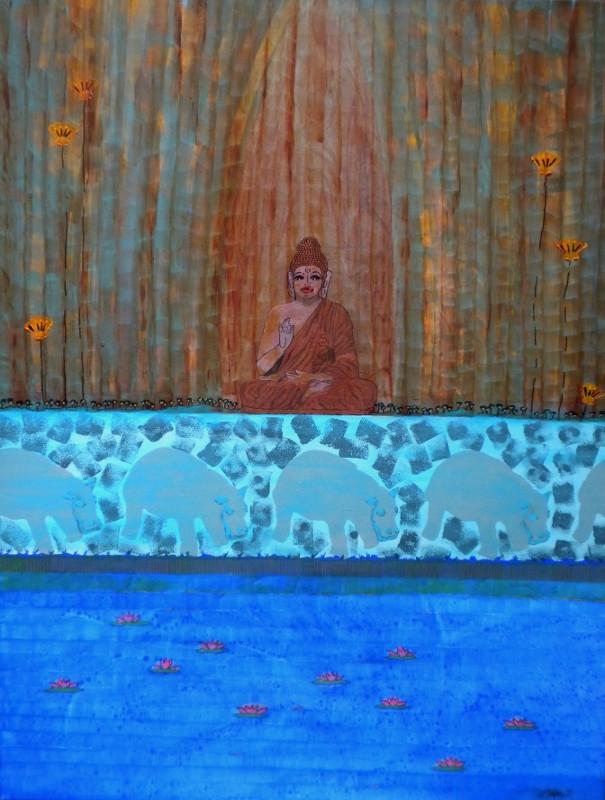Bouddha et fleuve bleu