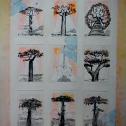Composition avec baobabs