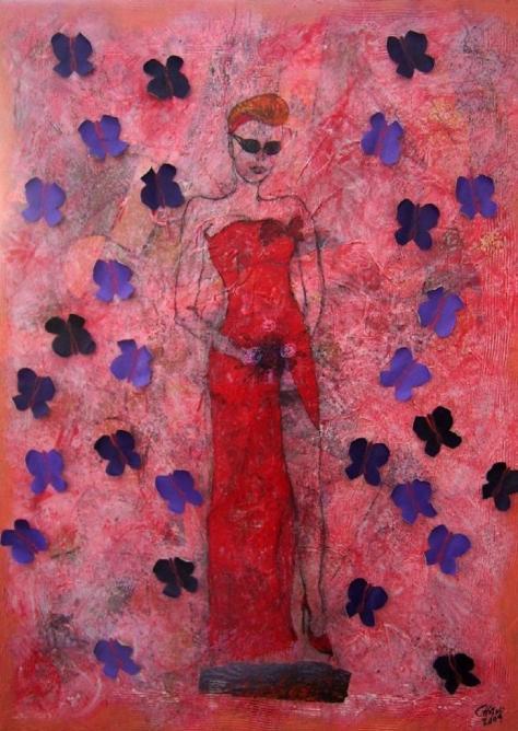 Papillons violets (Grace de Monaco)